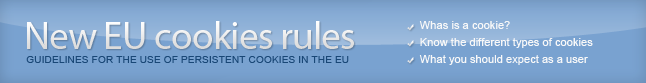 Click here to know more about the new EU cookies regulation